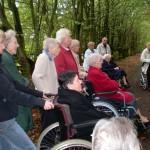 Teilnehmer der Kirchgartenführung
